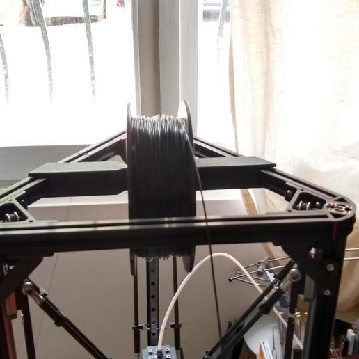 IMG_20190217_112920607_HDR.jpg Download free STL file Simplest top spool holder for anycubic kossel+ • 3D printable design, aleph34