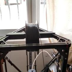 Download free 3D printing templates Simplest top spool holder for anycubic kossel+, aleph34