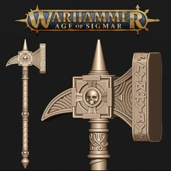 hammer.jpg Download OBJ file Ghal Maraz Warhammer • 3D printable model, twitte_king