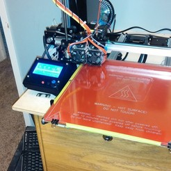 Download free STL file NCS P3-v Steel 12864 LCD housing with Mount • 3D printing design, trentjw