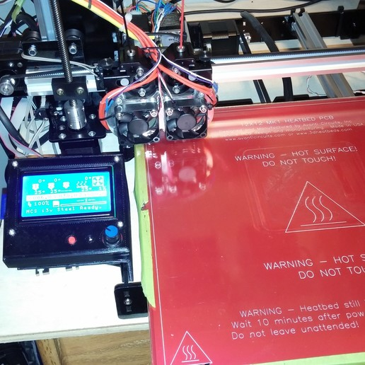 0307151536.jpg Download free STL file NCS P3-v Steel 12864 LCD housing with Mount • 3D printing design, trentjw