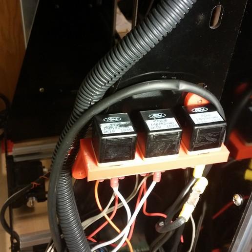 1011151913.jpg Download free STL file NCS P3-v Steel Three Relay Mount for NCS P3-v Steel • 3D printer model, trentjw