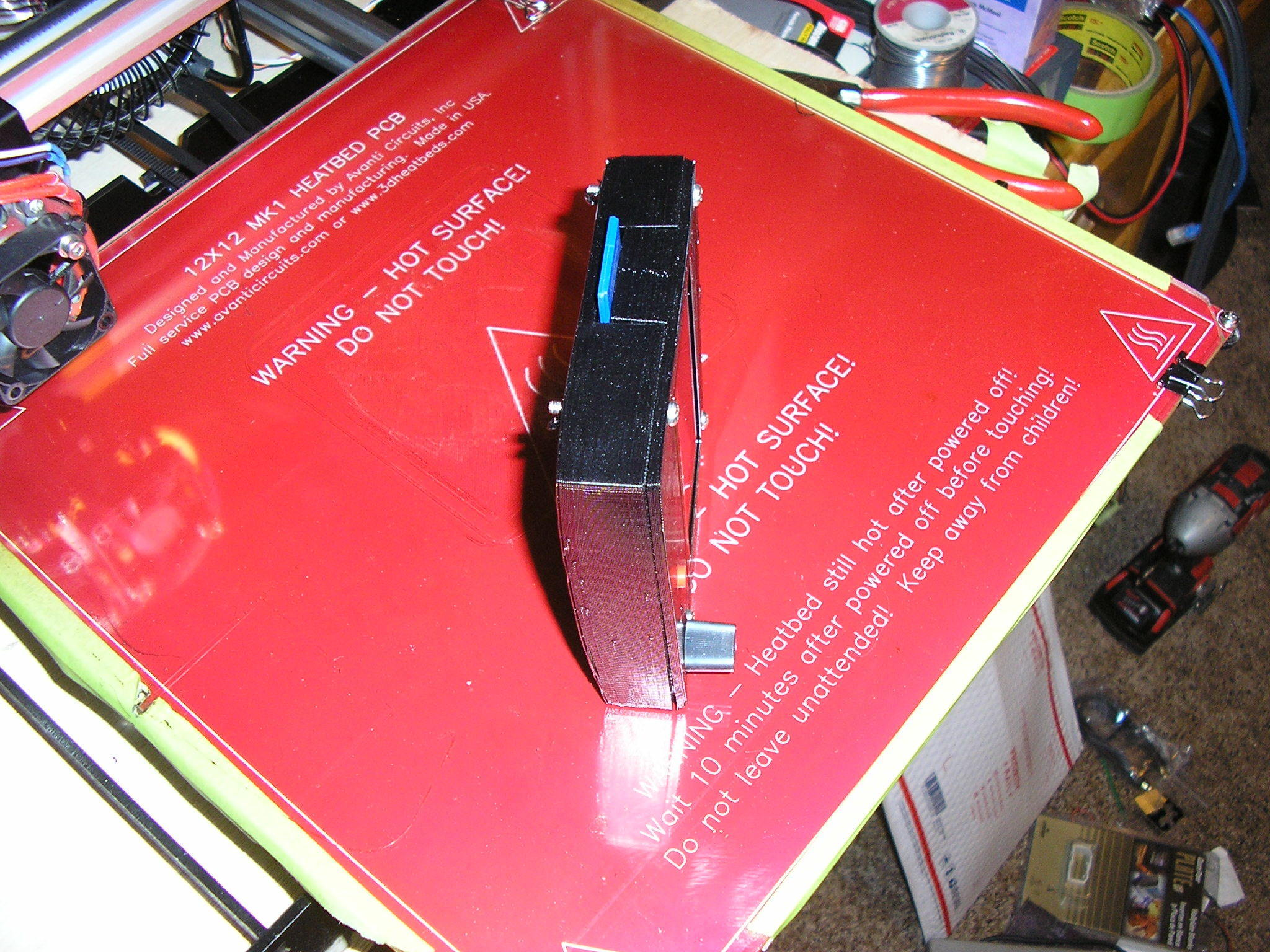 P1010026__3_.JPG Download free STL file NCS P3-v Steel 12864 LCD housing with Mount • 3D printing design, trentjw
