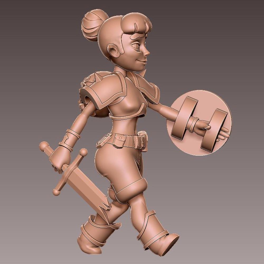 adv_walk4.jpg Download free OBJ file [FREE] Girl Adventurer • 3D printing template, warpentak