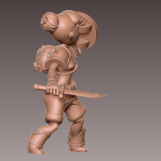 adv_shield1.jpg Download free OBJ file [FREE] Girl Adventurer • 3D printing template, warpentak