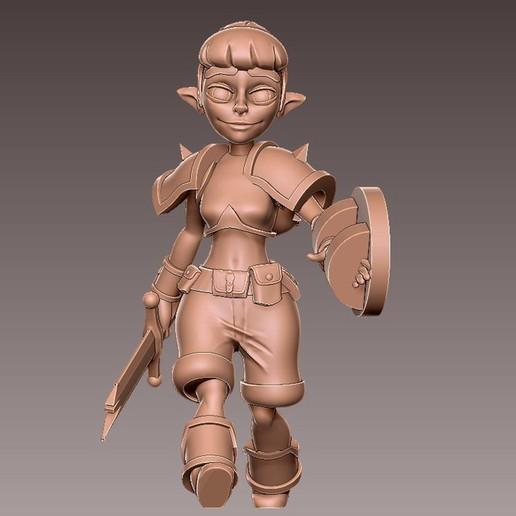 adv_walk5.jpg Download free OBJ file [FREE] Girl Adventurer • 3D printing template, warpentak