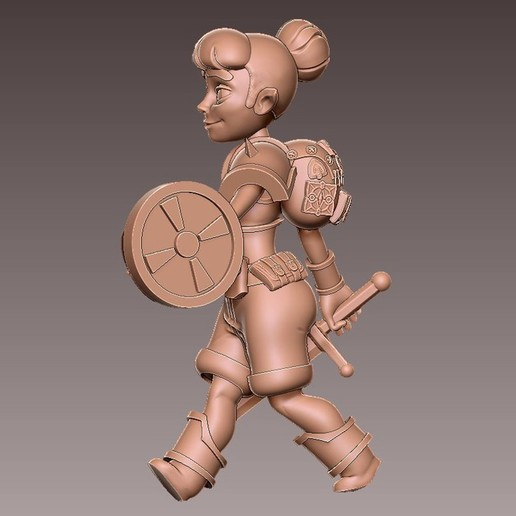 adv_walk3.jpg Download free OBJ file [FREE] Girl Adventurer • 3D printing template, warpentak