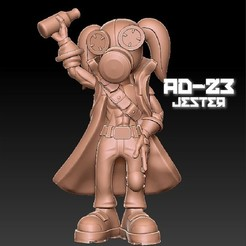 jester_pose3.jpg Download OBJ file AD23 Jester Pose • 3D printer design, warpentak