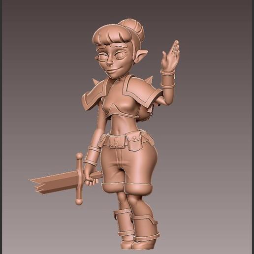 adv_hello4.jpg Download free OBJ file [FREE] Girl Adventurer • 3D printing template, warpentak
