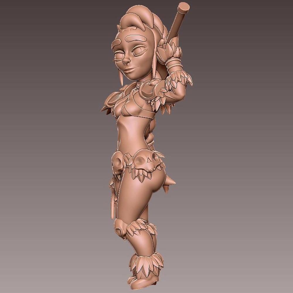 barb_pose2.jpg Download free OBJ file [Free] Girl Barbarian • 3D print template, warpentak