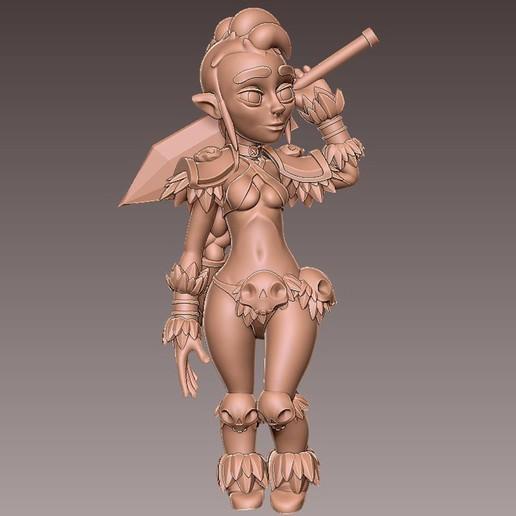 barb_pose3.jpg Download free OBJ file [Free] Girl Barbarian • 3D print template, warpentak