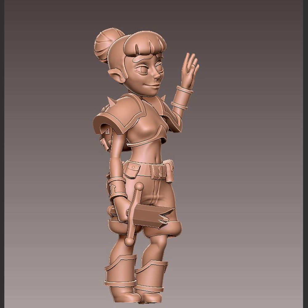 adv_hello3.jpg Download free OBJ file [FREE] Girl Adventurer • 3D printing template, warpentak