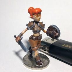 Descargar diseños 3D gratis [LIBRE] Chica aventurera, warpentak