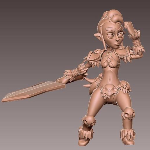 barb_charge3.jpg Download free OBJ file [Free] Girl Barbarian • 3D print template, warpentak