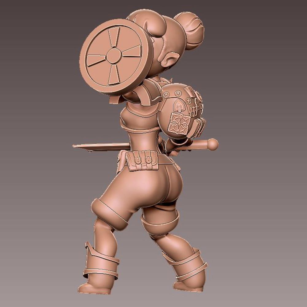 adv_shield2.jpg Download free OBJ file [FREE] Girl Adventurer • 3D printing template, warpentak