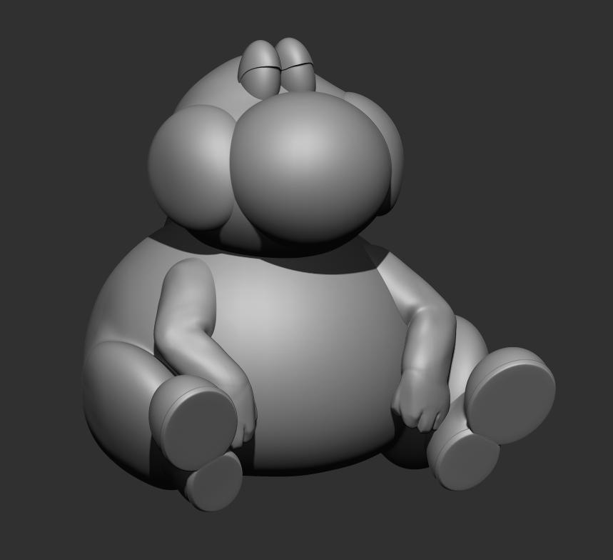 요시1.png Télécharger fichier STL gratuit FAT YOSHI (Super Mario) GRATUIT • Objet à imprimer en 3D, dbaudwo753