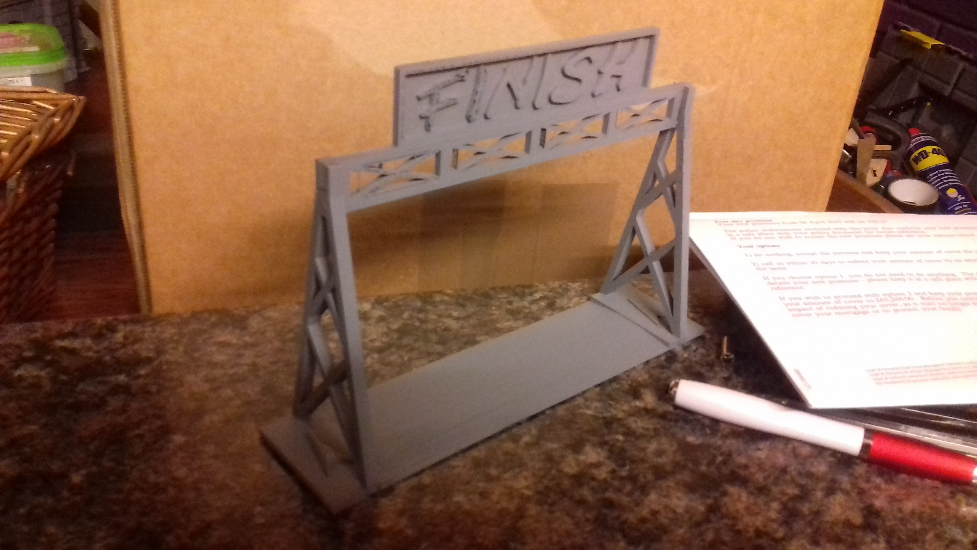 20190110_172635.jpg Download free STL file Gaslands Simple Gantry Gate • 3D printer model, Wrecker