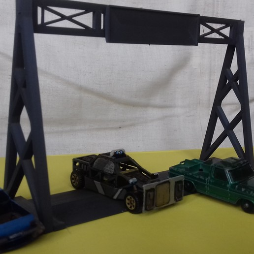 20180828_163416.jpg Download free STL file Gaslands Simple Gantry Gate • 3D printer model, Wrecker