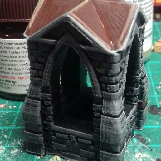 shrine_painted.jpg Download free STL file 28mm Shrine • 3D printable template, Wrecker