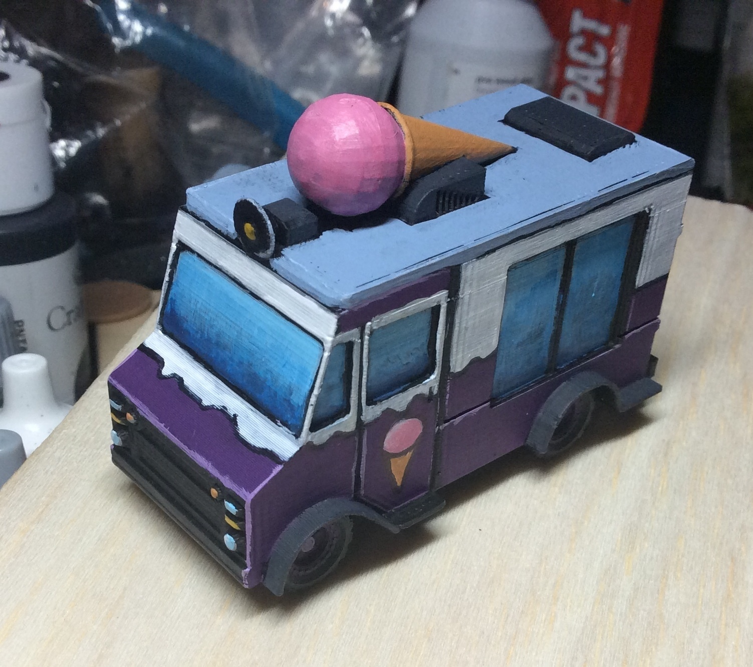 753DA853-7F9B-4F70-B0C8-3C680058A6DA.jpeg Download free STL file ICE CREAM TRUCK/VAN • 3D printing model, Wrecker