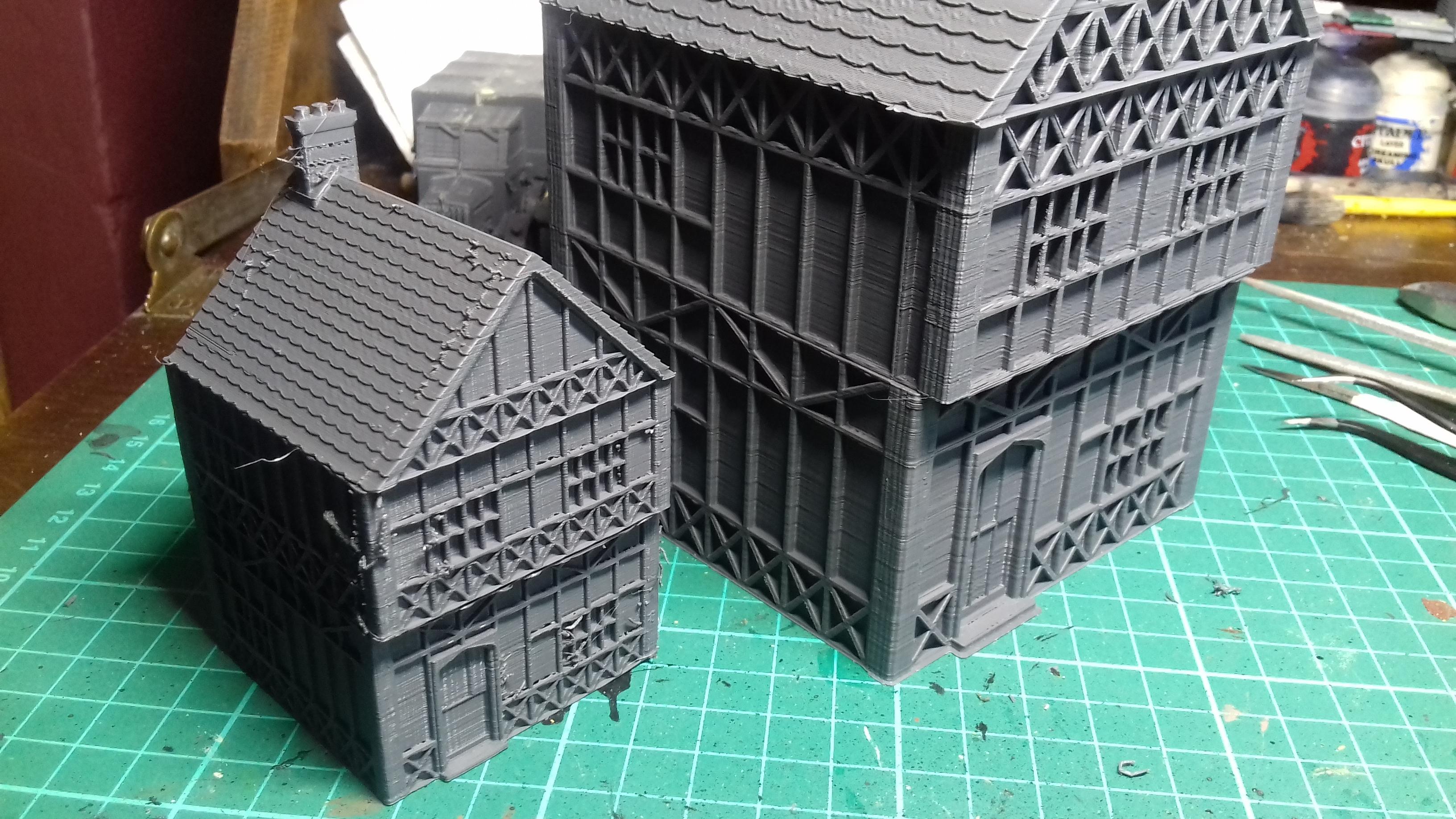 20180820_181137.jpg Télécharger fichier STL gratuit Maison de Wargaming à deux étages, style Tudor • Modèle pour imprimante 3D, Wrecker