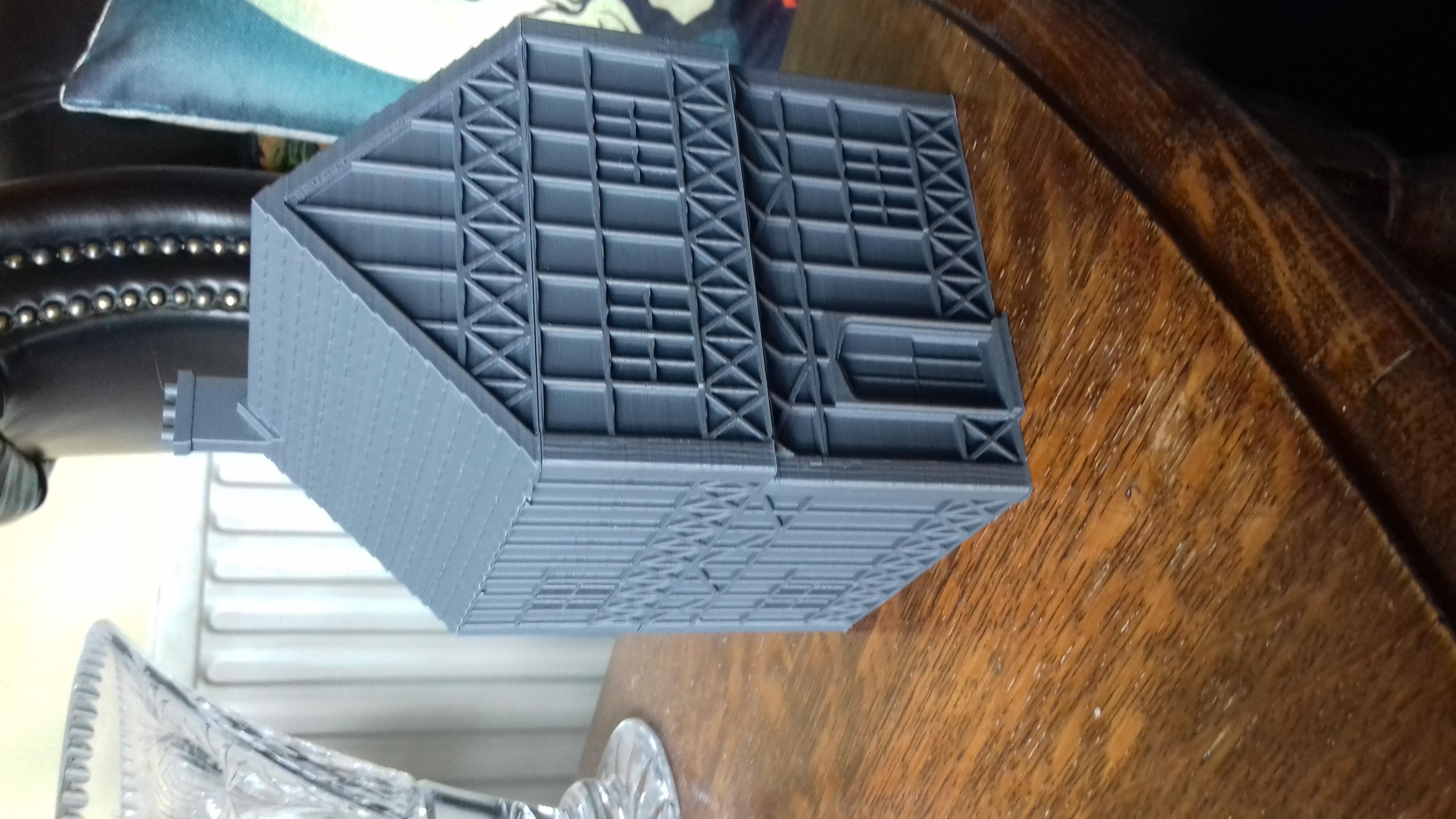 20180818_120801.jpg Télécharger fichier STL gratuit Maison de Wargaming à deux étages, style Tudor • Modèle pour imprimante 3D, Wrecker