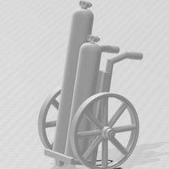 charriot soudure roue bois HO 1 pc.PNG Download STL file Wooden wheel welding canister cart HO • 3D printable template, beersaertsherve4189