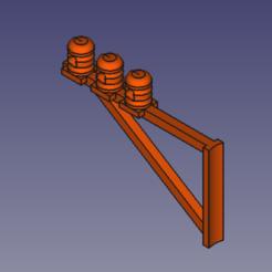 potence 3 fils.PNG Download STL file 3-wire electric gallows HO • 3D printer design, beersaertsherve4189