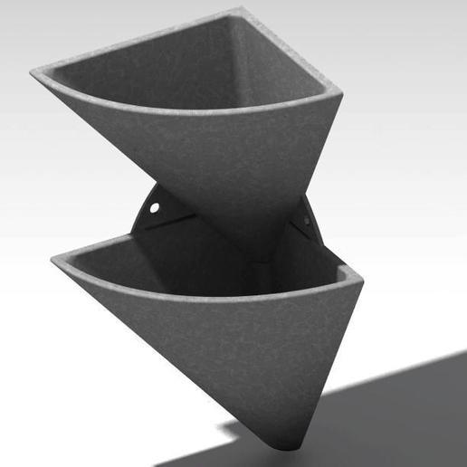 corner wall flower pot 3.jpg Télécharger fichier STL gratuit pot de fleur en coin • Design imprimable en 3D, Cihan_Serbest