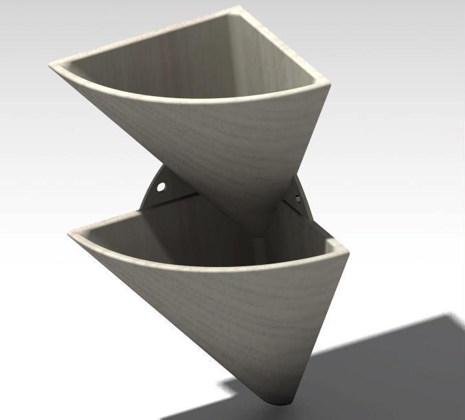 corner wall flower pot 4.jpg Télécharger fichier STL gratuit pot de fleur en coin • Design imprimable en 3D, Cihan_Serbest