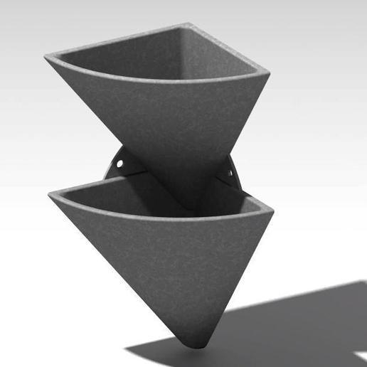 corner wall flower pot 1.jpg Télécharger fichier STL gratuit pot de fleur en coin • Design imprimable en 3D, Cihan_Serbest
