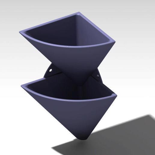 corner wall flower pot 2.jpg Télécharger fichier STL gratuit pot de fleur en coin • Design imprimable en 3D, Cihan_Serbest