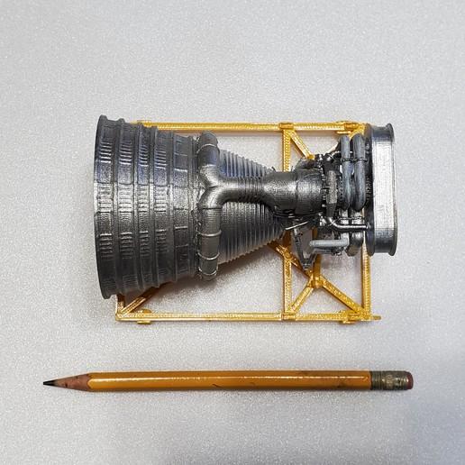 20200208_105751.jpg Download free STL file Apollo F1 Rocket Engine on Stand • 3D print object, monsenrm