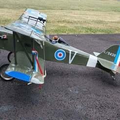 side_view_2_se6.jpg Download free STL file Lewis Gun for WWI SE5A RC Aircraft • 3D printer template, monsenrm