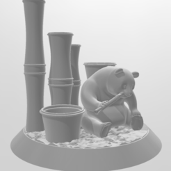Capture.PNG Download free STL file Panda Bear Pen Holder • 3D print object, o4saken