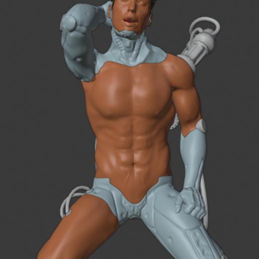Download free 3D printing templates Cyber Hunk - Cyborg, o4saken