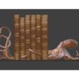 octorender1.PNG Télécharger fichier STL gratuit Serre-livres sur le poulpe • Modèle à imprimer en 3D, o4saken