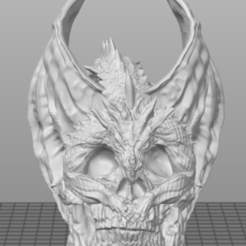 Download STL file Dragon and rock skull ornament • 3D printing template, o4saken