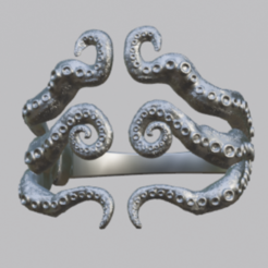 octo1.PNG Download free STL file Octopus Bangle / Ring • 3D printing object, o4saken