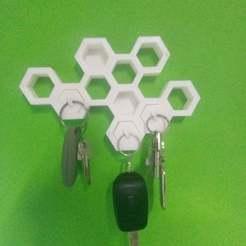 honey.jpg Télécharger fichier STL gratuit Détenteur d'une clé en nid d'abeille • Objet pour impression 3D, o4saken