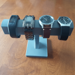 image.png Download free STL file Basic Multi-Watch Stand • 3D printable model, Hobb3s