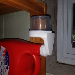 Descargar diseños 3D gratis Drenaje de la taza de detergente de lavandería - Nueva taza de marea, Hobb3s