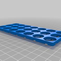 Télécharger fichier STL gratuit Mon plateau/porte-bagages de base personnalisé 18650 3x7 • Plan imprimable en 3D, Hobb3s