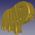 Download free STL file TardiFlex - The flexible tardigrade with stronger hinges (& keychain!) • 3D printable template, jp_math