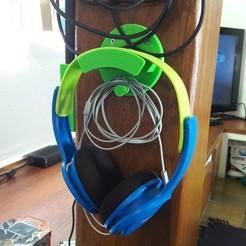 Impresiones 3D gratis Soporte de auriculares, jp_math