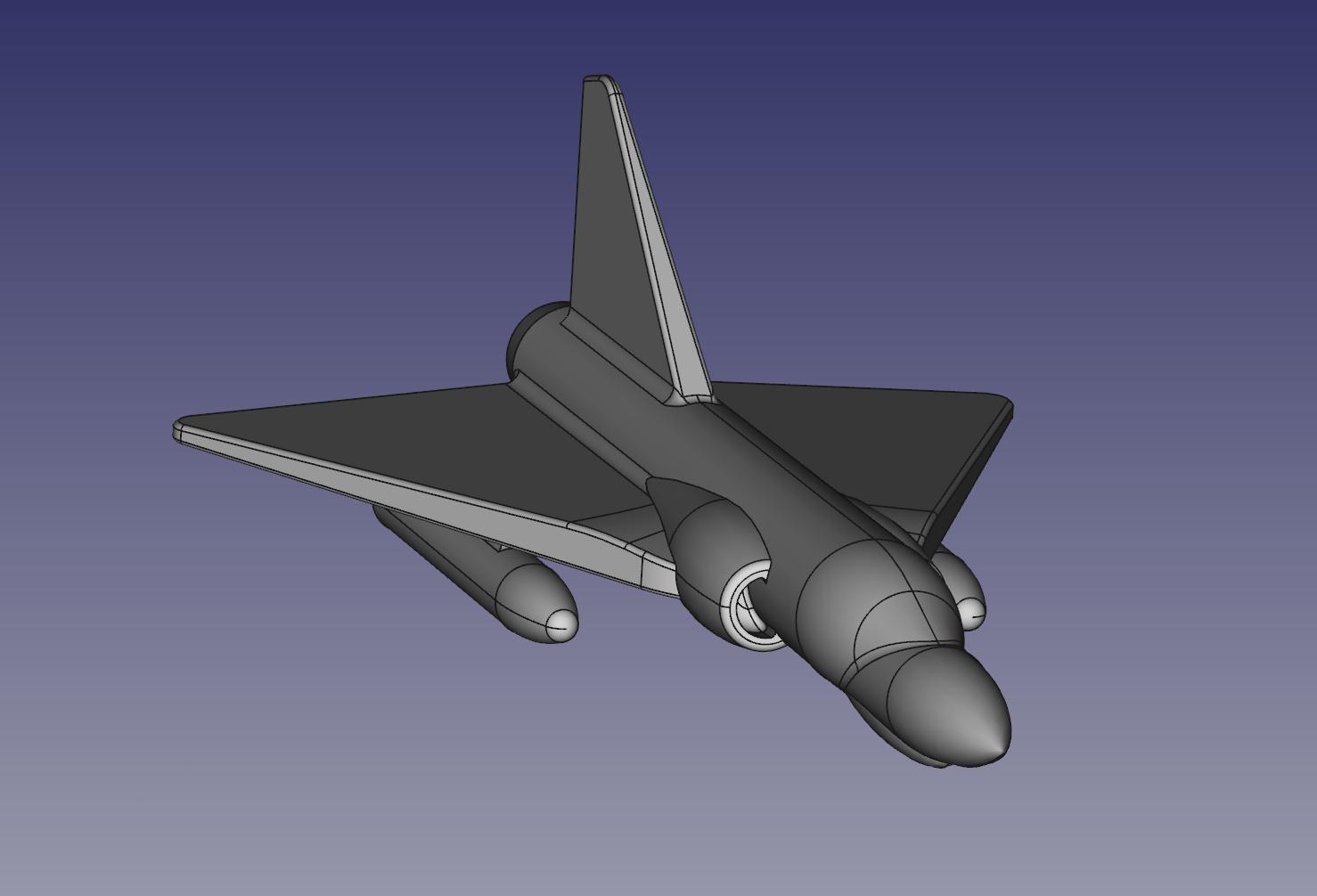 freecad.png Télécharger fichier STL gratuit Jouet Mirage 2000 • Objet imprimable en 3D, jp_math