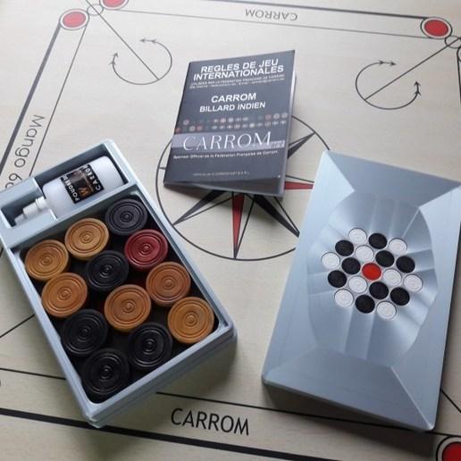 20190119_154949.jpg Télécharger fichier STL gratuit Boîte de stockage de Carrom • Modèle imprimable en 3D, jp_math