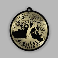 Untitled-1.png Download OBJ file Tree of life shield • 3D printable object, venkatkarthick_