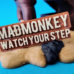 Download free 3D printing designs Mad_Monkey's Little Pirate, 3DMonkey
