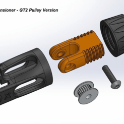 Descargar Modelos 3D para imprimir gratis CR-10 Mod - Tensor del eje X, 3dsketcha